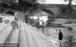 North Bridge From The Play Pen 1956, Newport Pagnell