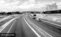 Newport Pagnell, The M1 Motorway c.1960