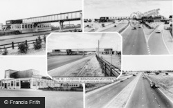 Newport Pagnell, The M1 Motorway Composite c.1962