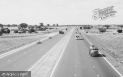 Newport Pagnell, The Traffic On M1 Motorway c.1960