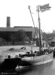Newport, Ship In Medina Quay 1913