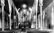 Newport, St Mary's Church Interior 1893