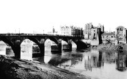 Newport, The Bridge And Castle 1896