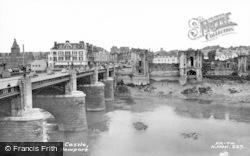 Newport, The Bridge And Castle c.1960