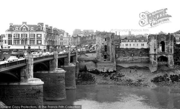 Photo of Newport, the Bridge and Castle c1955, ref. n25228