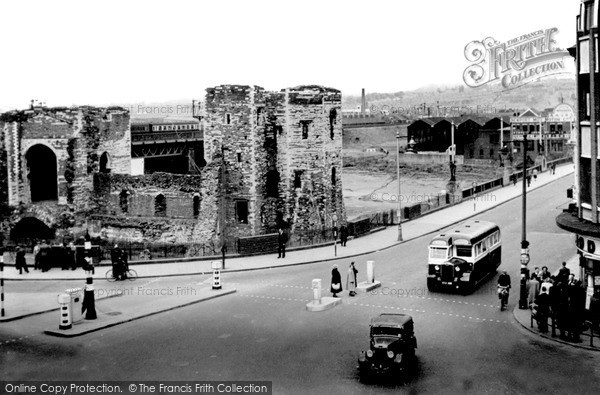 Photo of Newport, the Castle c1955, ref. n25122