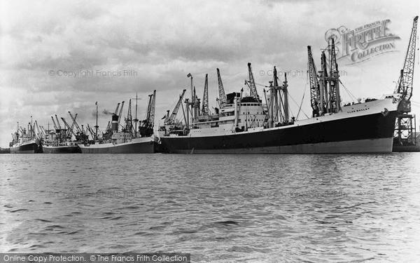 Photo of Newport, the Docks, South Quay c1955, ref. n25179