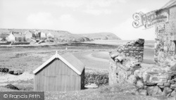 Newport, The Estuary And Dinas Head c.1950