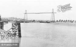 Newport, Transporter Bridge And River Usk c.1960