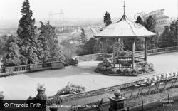Newport, Transporter Bridge From Belle Vue Park c.1955
