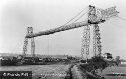 Newport, Transporter Bridge From Coronation Park c.1955