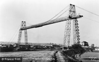 Newport, Transporter Bridge from Coronation Park c1955