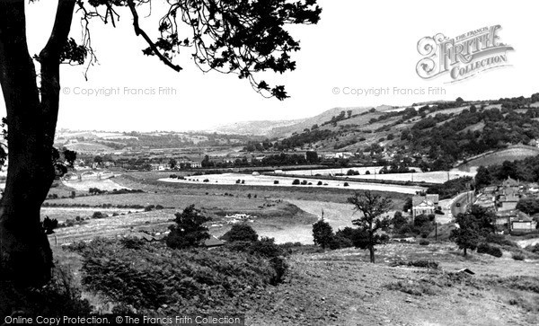 Photo of Newport, Vale of Usk from St Julian's c1955, ref. n25151