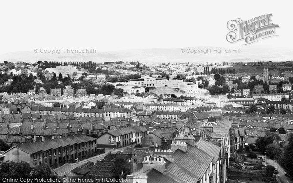 Photo of Newport, view from St Woolas Cathedral c1955, ref. n25240