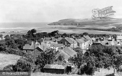 Newport, View From The Castle c.1955