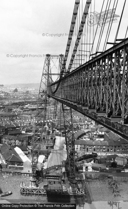 Photo of Newport, view from the Transporter Bridge c1955, ref. n25175