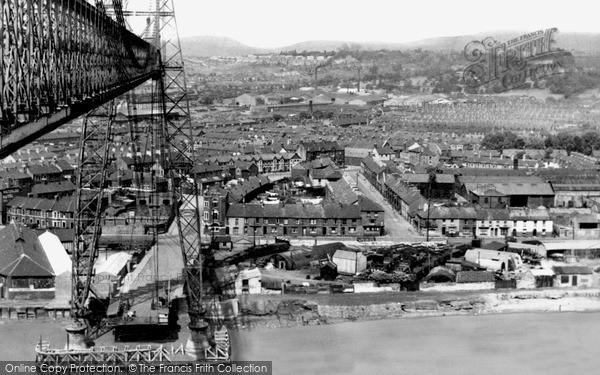 Photo of Newport, view from Transporter Bridge c1950, ref. n25157