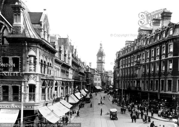 Photo of Newport, Westgate Square, Commercial Street and Town Hall 1932, ref. n25112