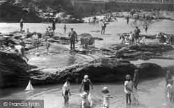 Newquay, Children Playing 1930