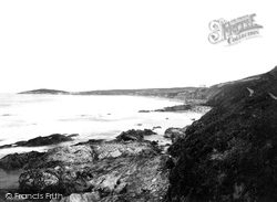 Newquay, Fistral Bay And Hotel 1894