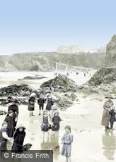 Newquay, on the Sands 1912