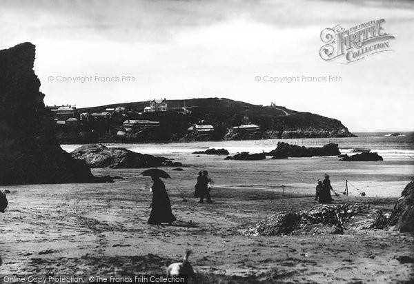 Newquay, Tennis On The Sands 1887