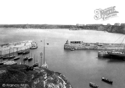 Newquay, The Harbour Entrance 1894