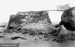 Newquay, The Sands And The Island 1907