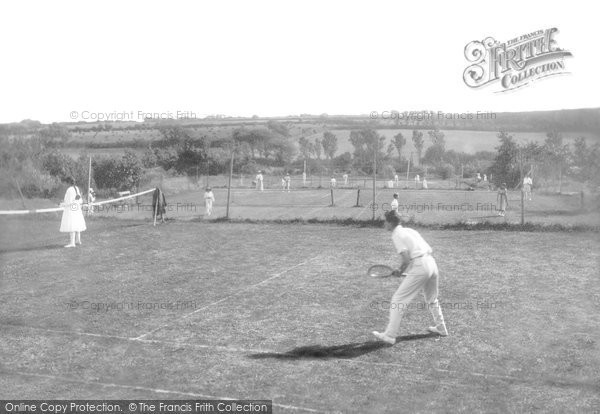 Newquay, The Tennis Courts 1918