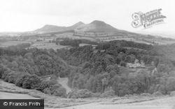 Eildon Hills From Near Dryburgh c.1955, Newstead