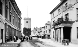 Newton Abbot, Clock Tower And Globe Hotel 1890