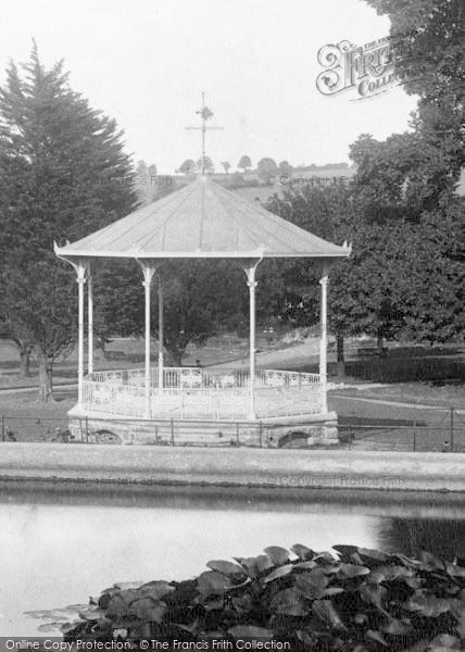 Photo of Newton Abbot, Courtenay Park, Bandstand 1907