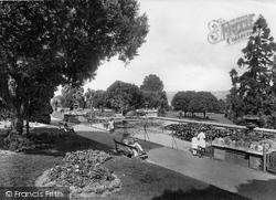 Newton Abbot, Courtenay Park, The Fishpond 1922