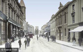 Newton Abbot, Courtenay Street 1895