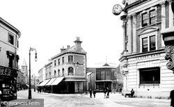 Newton Abbot, Courtenay Street And Drumclock Corner 1910