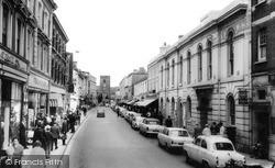 Newton Abbot, Courtenay Street c.1965