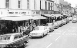 Courtenay Street Shops c.1965, Newton Abbot