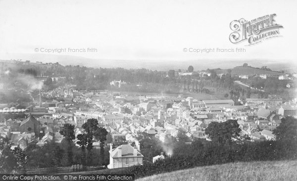 Photo of Newton Abbot, From Baker Hill c.1874