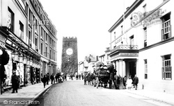 Newton Abbot, Globe Hotel And St Leonard's Tower 1906