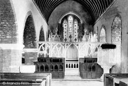 Newton Abbot, Haccombe Church Interior 1890