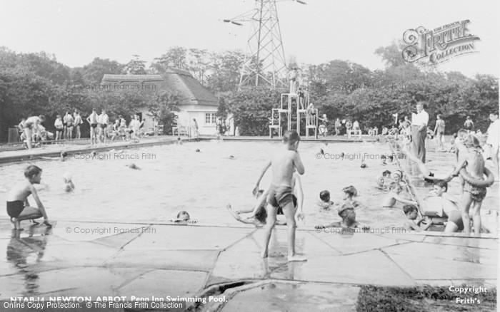 Photo of Newton Abbot, Penn Inn Swimming Pool c.1955