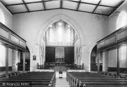 Newton Abbot, St Leonard's Church Interior 1896