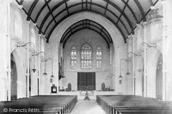 Newton Abbot, St Mary's Church Interior, Highweek 1906