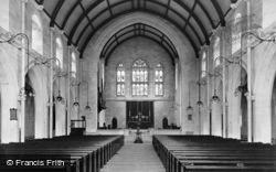 St Mary's Church Interior, Highweek 1910, Newton Abbot