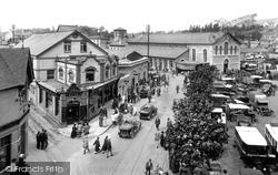 Newton Abbot, The Market 1925