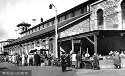 Newton Abbot, The Market 1954