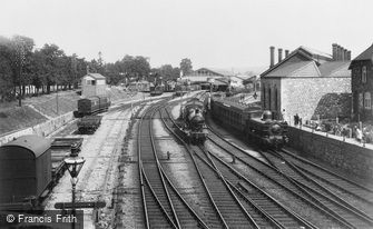 Newton Abbot, the Railway Station 1907