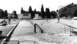 Newton Abbot, The Swimming Pool c.1965