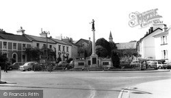 Newton Abbot, The War Memorial And St Paul's Road c.1965