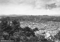 Newton Abbot, View From Wolborough Hill 1890